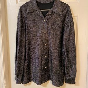Vintage 70's Sparkly NYE Blouse